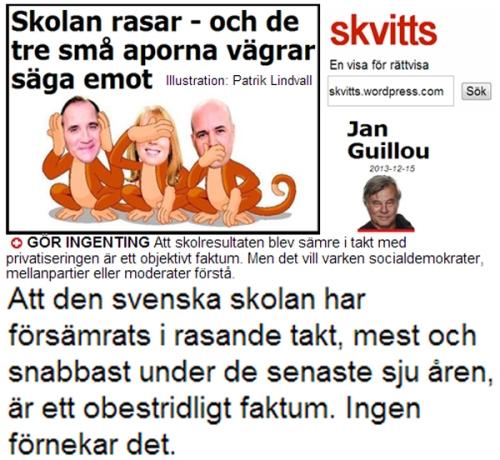 Jan Guillou Skolan rasar